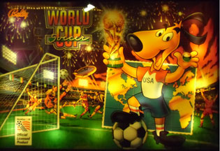 Flipper WORLD CUP SOCCER: Backglas