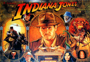 Flipper Indiana Jones: Backglas